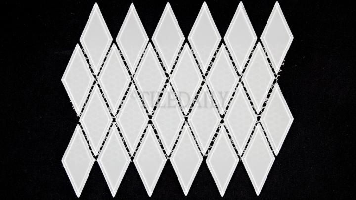 GM0122WE - Diamond Glass Mosaic, White