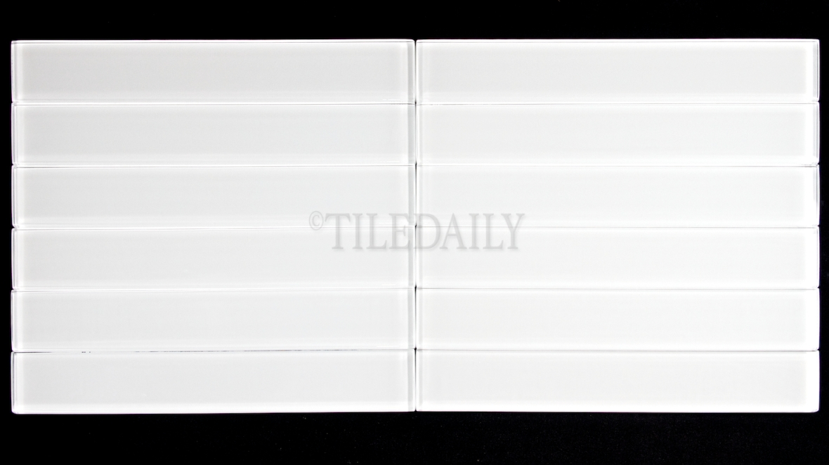 "GM0087WE-2 - 2""x 12"" Slim Glass Subway Tile, White"