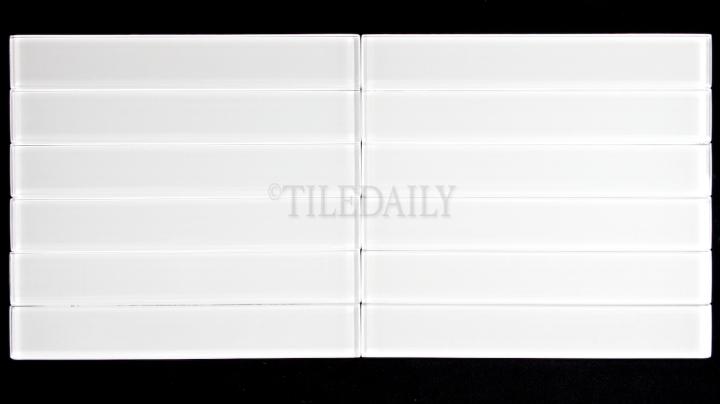 "GM0087WE-2 - 2""x 12"" Slim Glass Subway Tile, White"