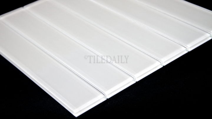 Glass Subway Tile, White,2×12