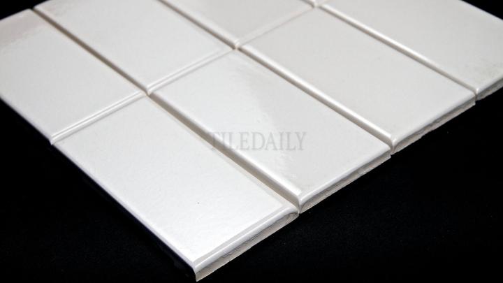 Crackle Glazed Subway Tile,White