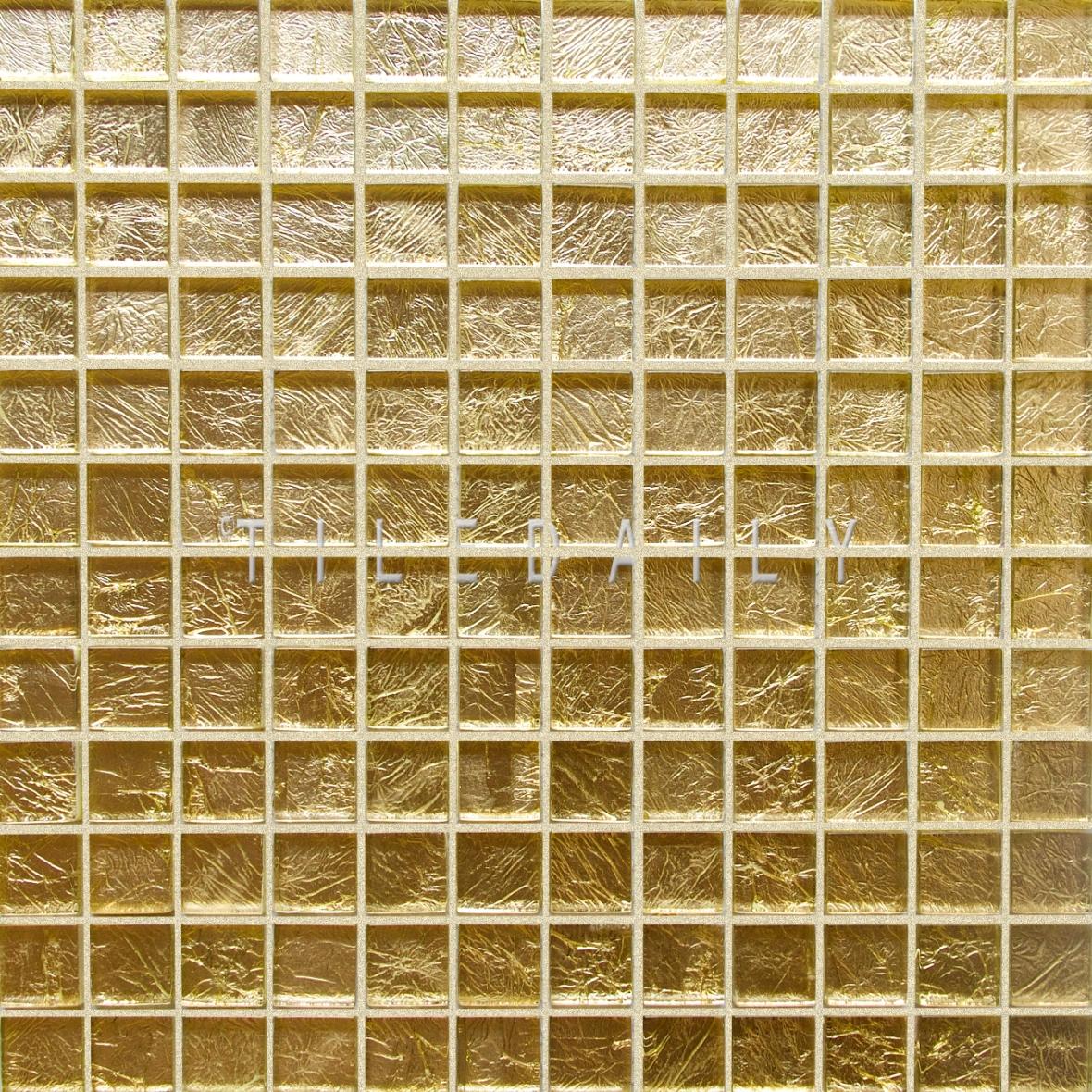 GM0068 - 1x1 Gold Glass Mosaic Tile