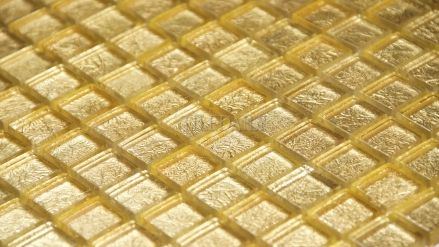 GM0068 - 1x1  Gold Foil Square Glass Mosaic