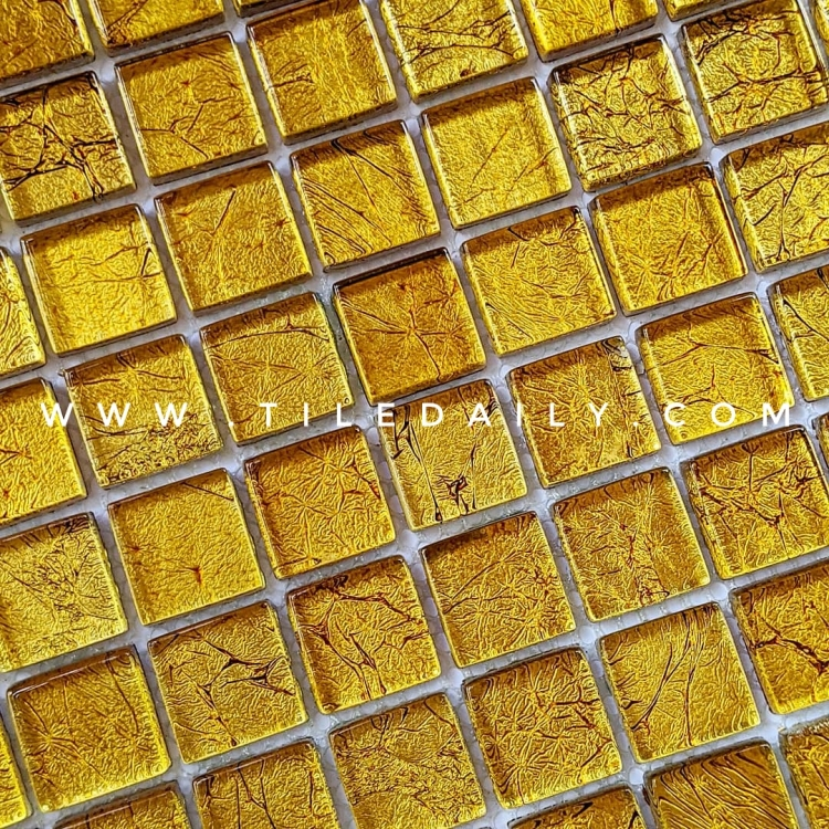 Gold Glass Mosaic Tile For Wall and Floor Design