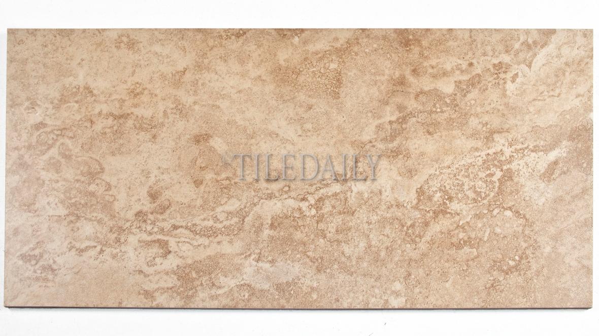 P0083BN - 12x24 Classic Travertine Porcelain Tile, Brown