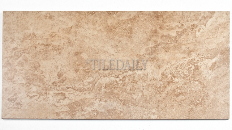 P0083BN - 12x24 Classic Travertine Porcelain Tile, Brown