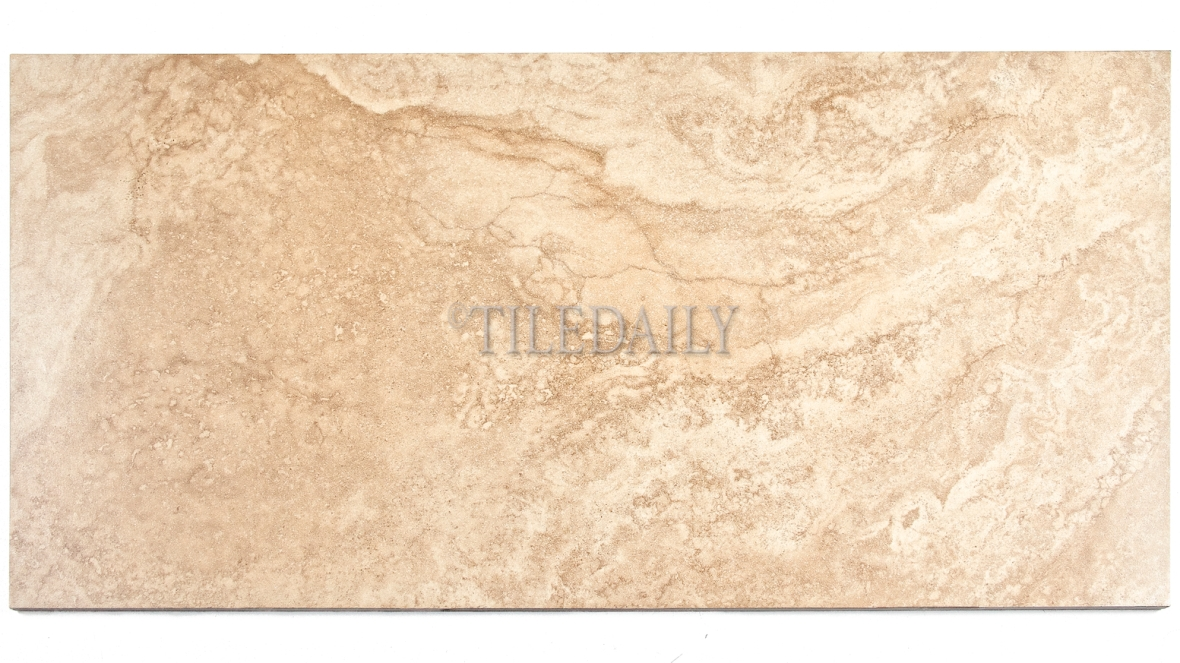 P0083BG - 12x24 Classic Travertine Porcelain Tile, Beige