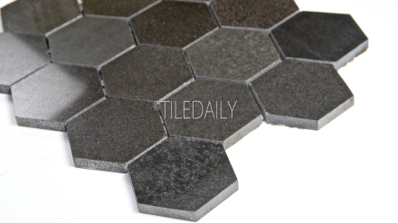 NS0035P-3 Basalt Hexagon Mosaic, 3""