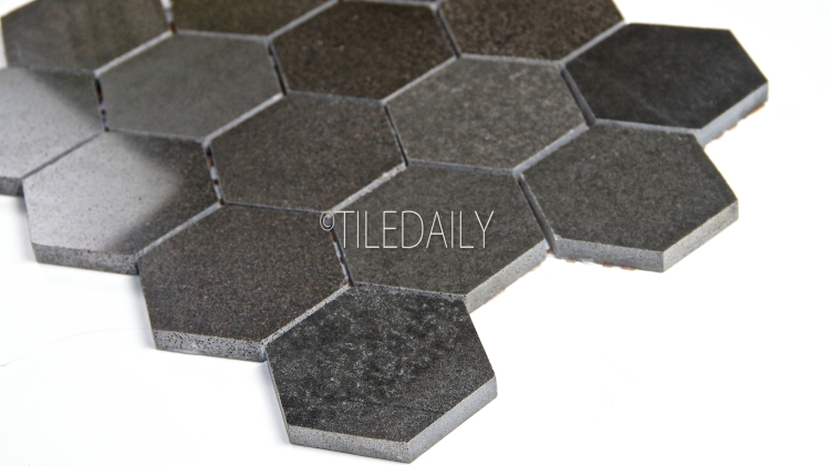 "3"" Basalt Hexagon Mosaic Tile at TileDaily"