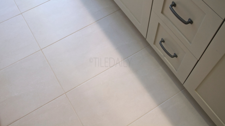 Featured Install - TileDaily Floor Tile: P0021LBG - 12x24 Quartz Vein Porcelain Tile, Light Beige