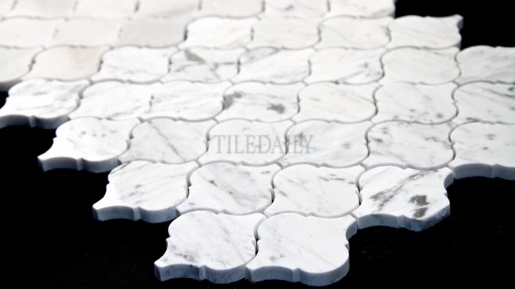 NS0073BC - Bianco Carrara Lantern Marble Mosaic