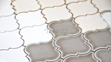 """PM0074 - 4"""" Lantern Series Porcelain Mosaic, 3 Colors"""