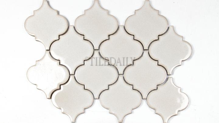 PM0074LBG - Lantern Series Porcelain Mosaic, Antique Cream