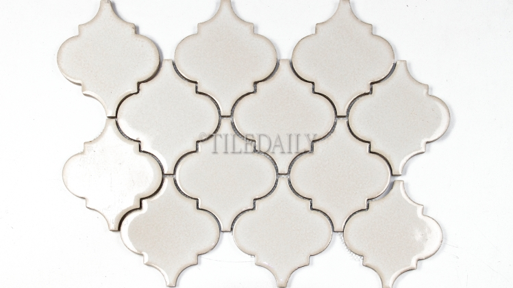 PM0074LBG - Lantern Series Porcelain Mosaic, Antique Cream