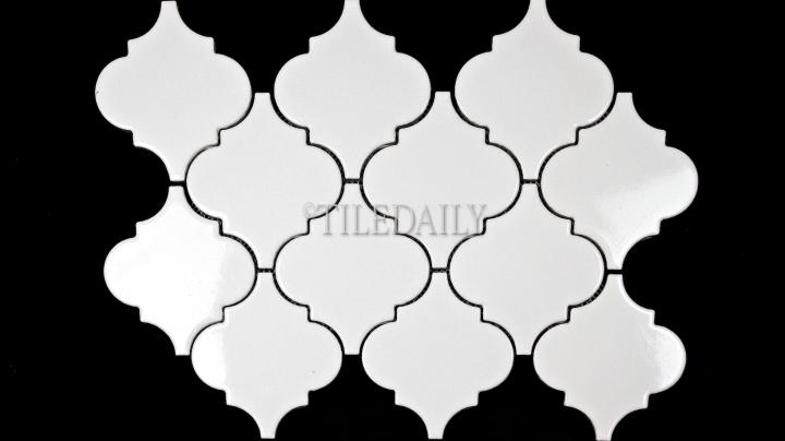"""PM0074WE - 4"""" Lantern Series Porcelain Mosaic, White"""