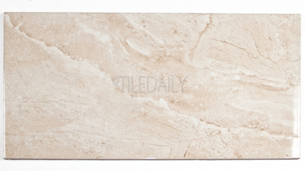 P0085LBG - Marble Series Ceramic Tile, Light Beige 12x24, 18x18