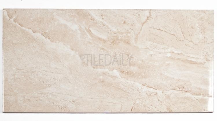P0085LBG - Marble Series Ceramic Tile, Light Beige 12x24, 18x18