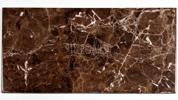P0085BN - Marble Series Ceramic Tile, Emperador 12x24, 18x18