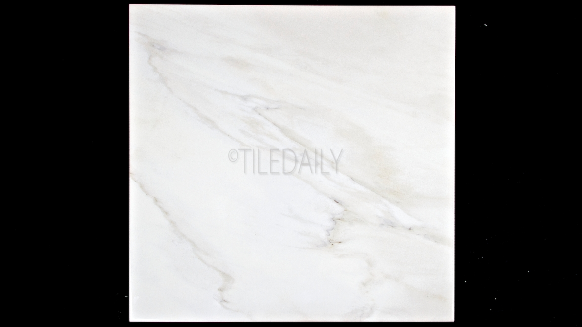 P0085WE - Marble Series Ceramic Tile, White Carrara 12x24, 18x18