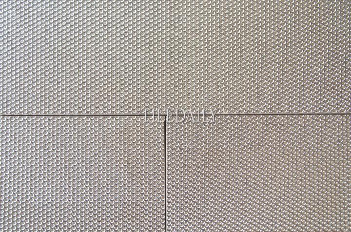MP0033 - 4x12 Silver Grate Metallic Brick Tile