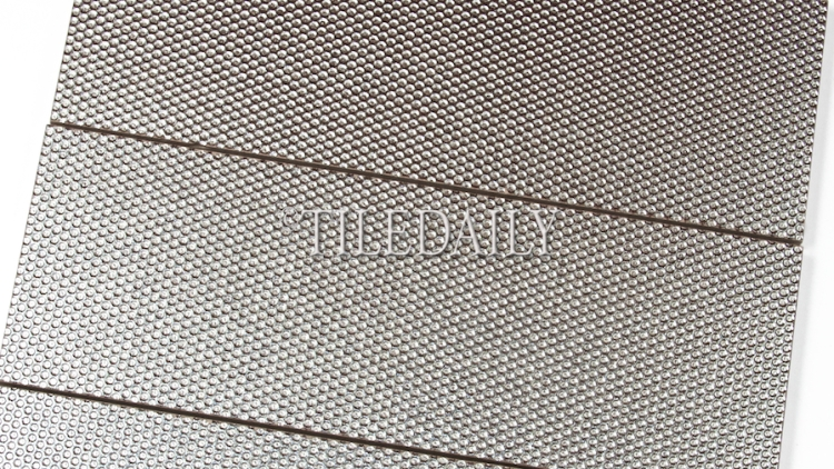 MP0033 - 4x12 Silver Grate Metallic Brick Tile