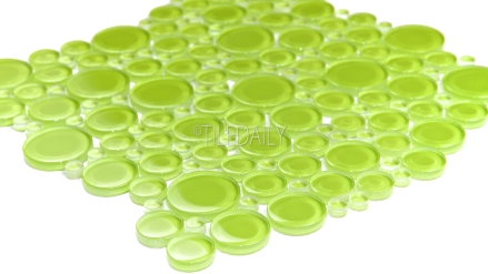 GM0009LGN - Bubble Glass Mosaic, Green