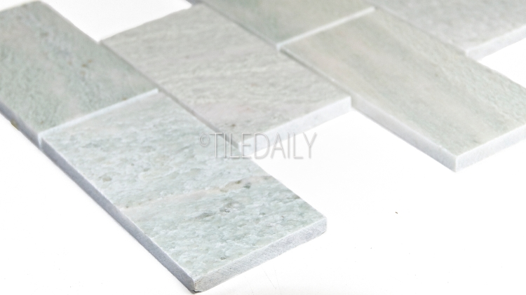 3x6 Ming Green Marble Subway Tile Available at TileDaily