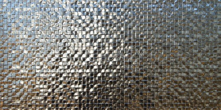 Metallic Square Drop Texture Tile