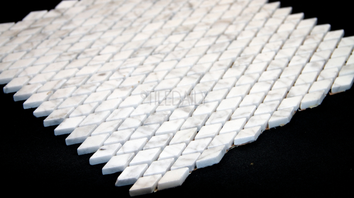 NS0074 - Carrara Mini Diamond Marble Mosaic
