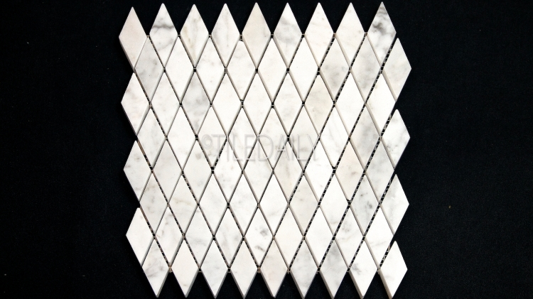 NS0074 - Carrara Diamond Marble Mosaic