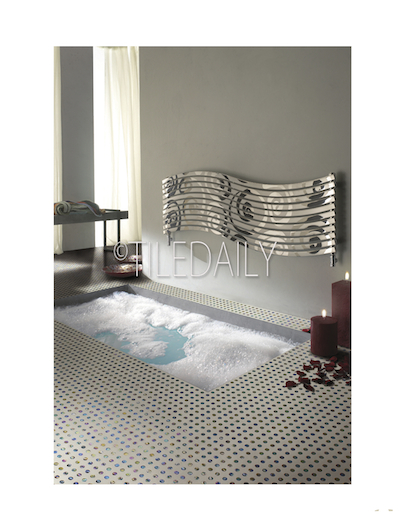 GM0125 - Iridescent Penny Round Mix Mosaic