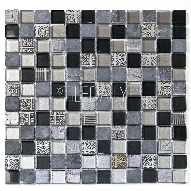 GM0130SR - Century Glass Mosaic, Silver