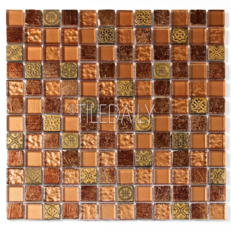 GM0130BZ - Century Glass Mosaic, Bronze