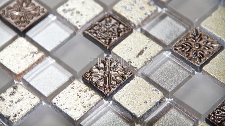 GM0130CE - Century Glass Mosaic, Champagne