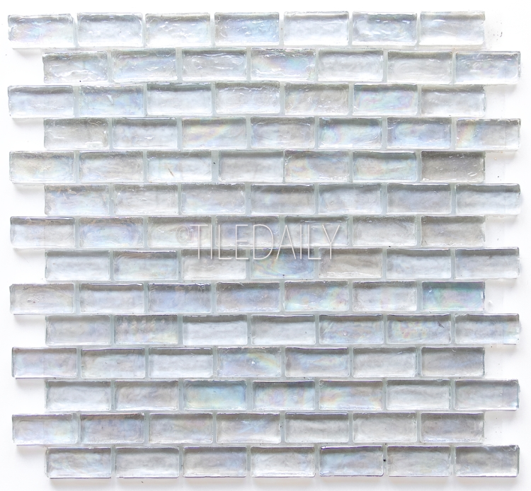 ice white iridescent glass mosaic tile clear white bathroom and kitchen tiles