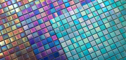 GM0040 - Iridescent Opaque Glass Mosaic, SALE