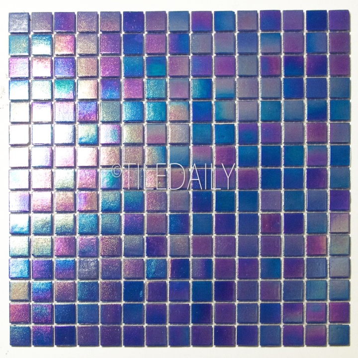 GM0040DBE - Iridescent Opaque Glass Mosaic, Dark Blue