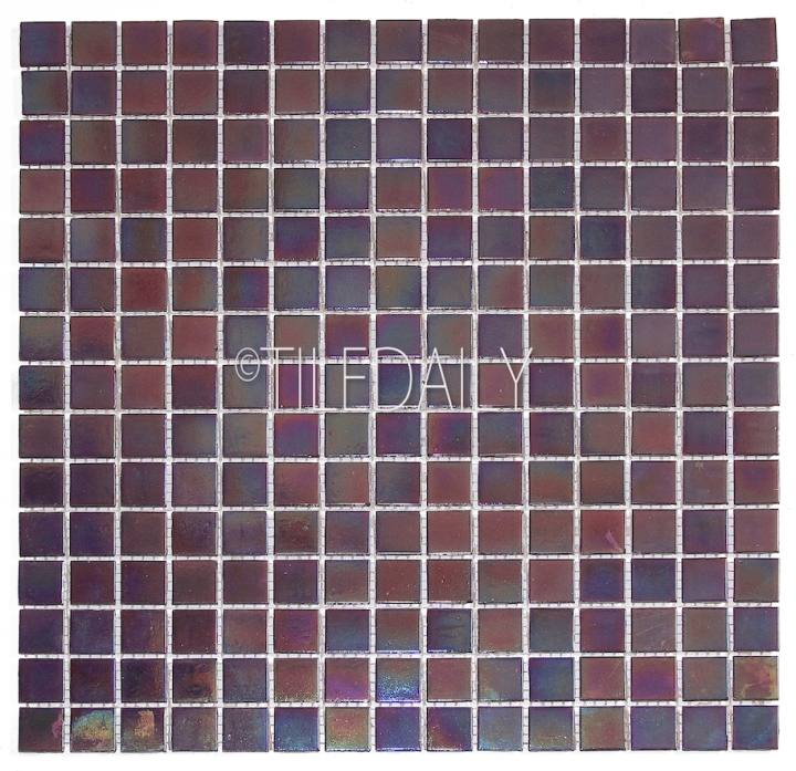 GM0040PE - Iridescent Opaque Glass Mosaic, Purple