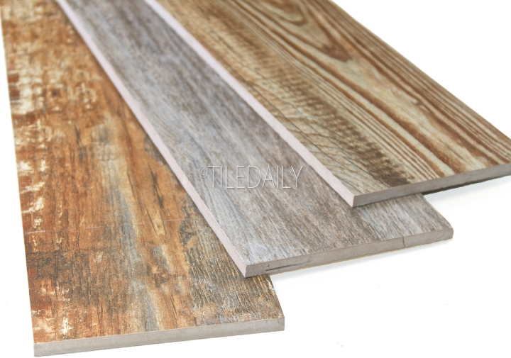 Vintage Wood Porcelain Tile, 3 Colors