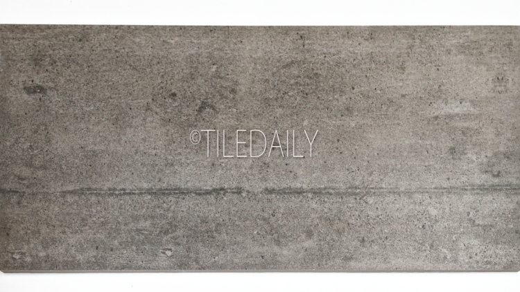P0084DGY-2 - Series II Rustic Cement Porcelain Tile, Dark Grey