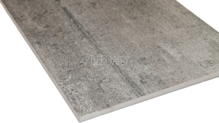 P0084DGY-2 - Series II Rustic Cement Porcelain Tile, Dark Grey