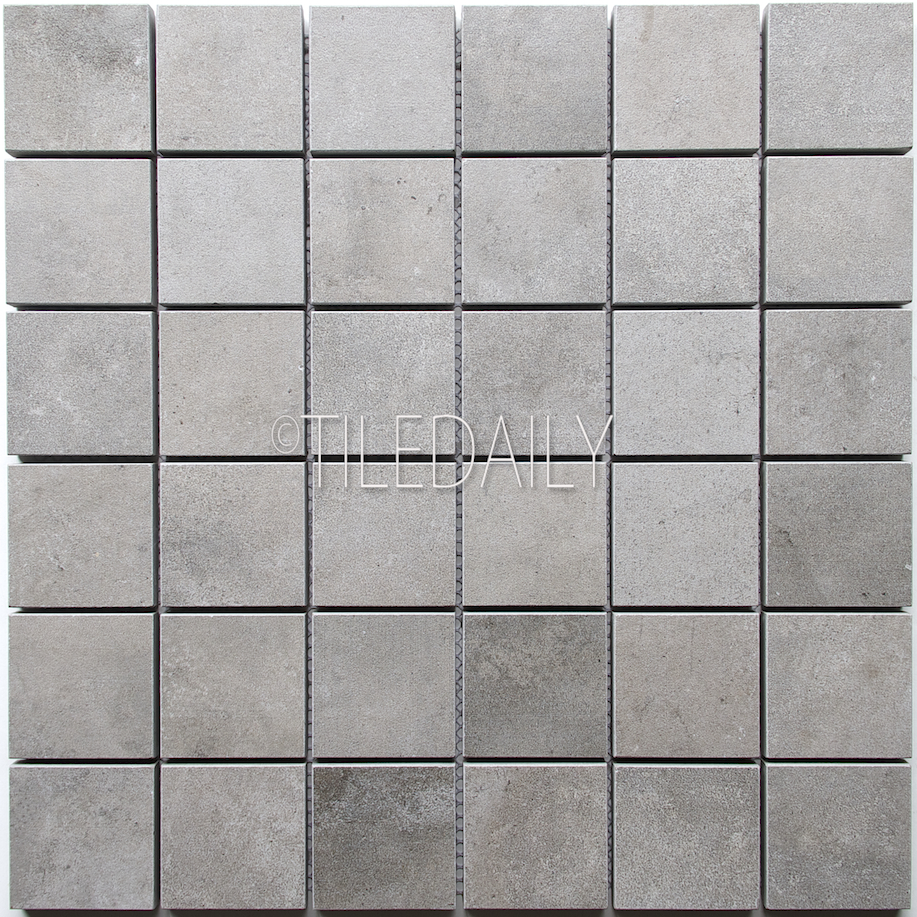 P0059GY-MOS - 2x2 Cement Porcelain Square Mosaic, Grey