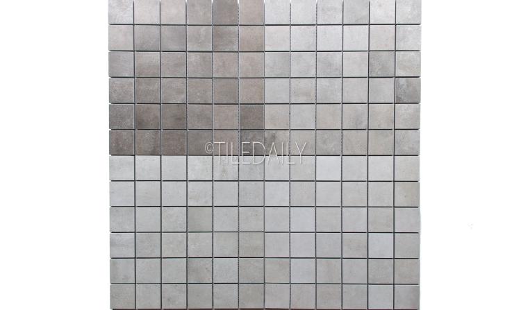 P0059-MOS - 2x2 Cement Porcelain Square Mosaic, 4 Colors