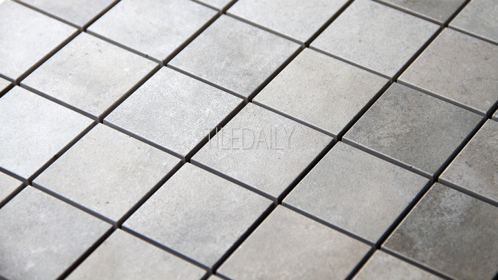 Cement Porcelain Square Mosaic, 4 Colors