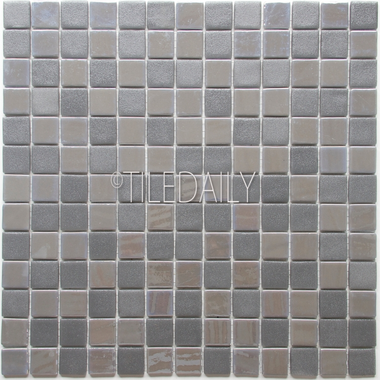 GM0128-1 - Iridium square Glass Mosaic, Grey
