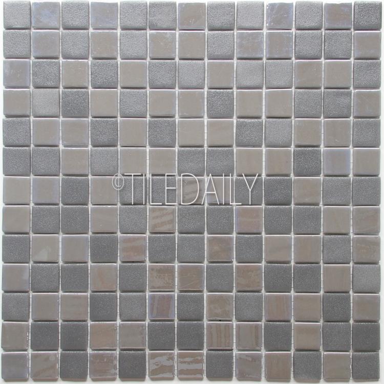GM0128-1 - Iridium square Glass Mosaic, Grey