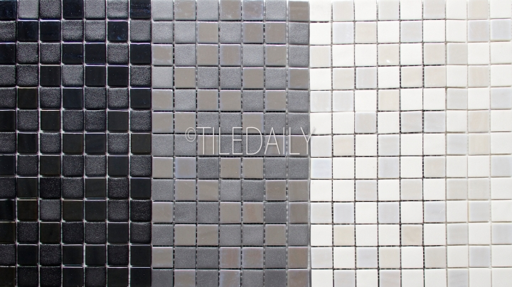 Iridium Square Glass Mosaic, 3 Colors