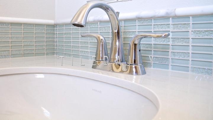 GM0062 - Iridescent Glass Bars Mosaic, Light Aqua