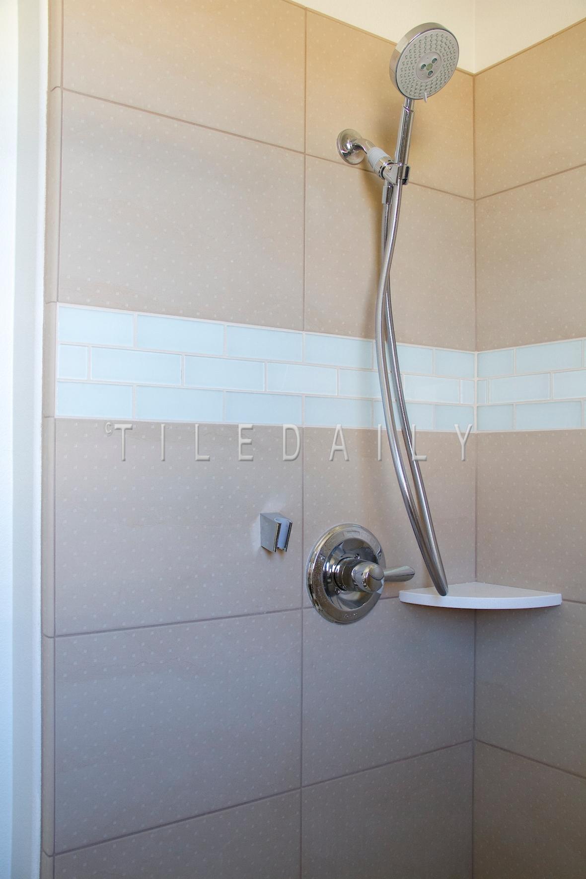 P0037LBG - 12x24 Square Dots Porcelain Tile, Light Beige