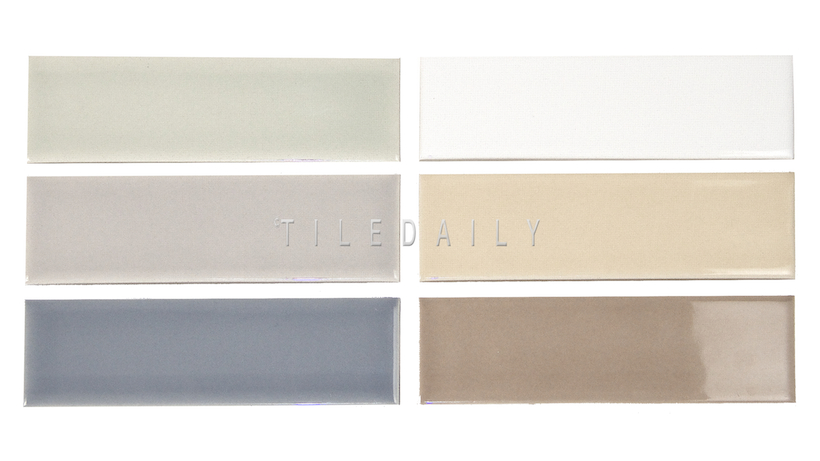 2x6 Handmade Ceramic Subway Tile available in 6 colors at TileDaily